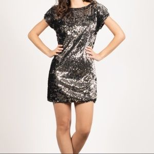 MOHITO | Black Sequin Shift Dress
